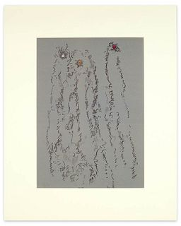 """Max Ernst<br><br>Untitled - From """"Les Chiens ont soif"""", 1964<br>Original colored lithograph, 29.5 x 41.5 cm<br>Untitled - From """"Les Chiens ont soif"""" i"""