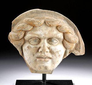 Greek Tarentum Polychrome Medusa Antefix w/ TL Report