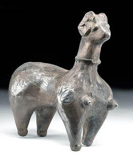 12th C. Persian Ghaznavid Silver Figure - Ram-Sphinx