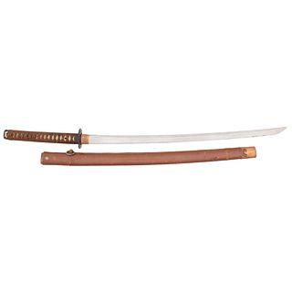 A Shinshinto Japanese Sword (Katana) Signed Norihira