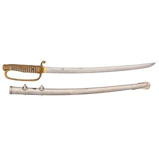 Japanese Samurai Sword (Wakashi) Signed Kunitsugu in Kyu-Gunto Mounts