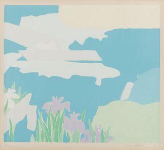 Kenzo Okada (American/Japanese, 1902-1982) Morning Glory and Iris, 1975