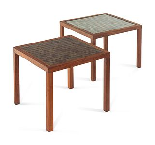 Grodon and Jane Martz (American, 1924-2015 | 1929-2007) Pair of Side Tables,Marshall Studios, USA