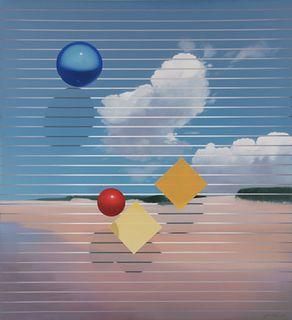 Masoud Yasami (American, b. 1949) In Thought of Santa Catalina, 1985