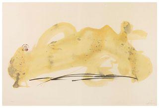 Antoni Tapies (Spanish, 1923-2012) Vernis Paysage, 1982