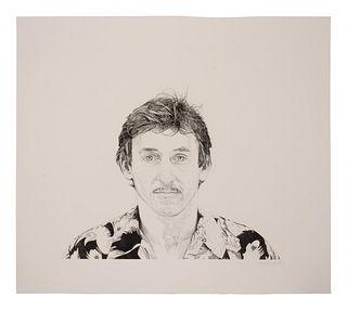 Theo Wujick (American, 1939-2014) Portrait of Ed Ruscha, 1996
