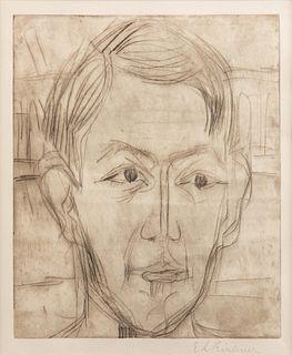 Ernst Ludwig Kirchner (German, 1880-1938) Kopf eines jungen Mannes (Dr. Hans Butow)