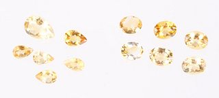 Faceted Yellow/Gold Citrine Gemstones 25.5TCW