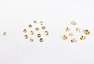 Faceted Citrine Gemstones 11.2CTW