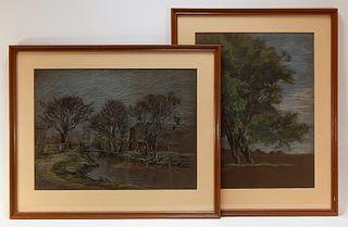 PR European Post Impressionist Pastel Landscapes