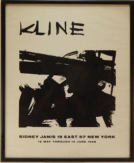 Franz Kline Sidney Janis Gallery Exhibition Poster
