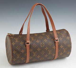 Louis Vuitton Monogram Vintage Papillon 30, with brass hardware, the zipper closure opening to a cinnamon leather interior, the exte...