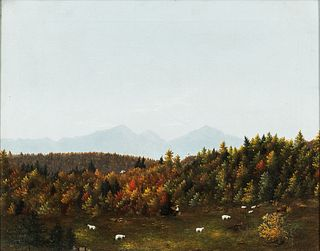 American School, 19th Century       Landscape with Sheep