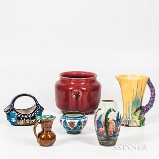 Six Pieces of European Pottery