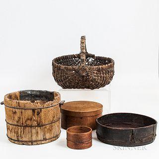 Five Make-do Wood and Splint Items