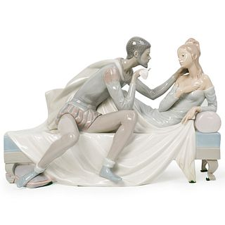 "Lladro ""Othello And Desdemona"" Porcelain Sculpture"