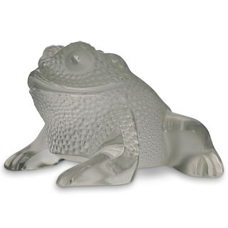 "Lalique ""Gregoire"" Frog Paperweight"