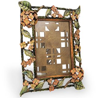 Jay Strongwater Limited Edition Floral Desk Frame