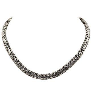 John Hardy 18K Gold Sterling & Diamond Necklace