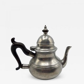 Marked Pewter Queen Anne Teapot