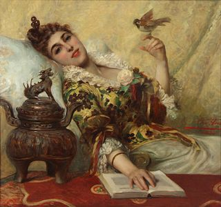 LEON HERBO (BELGIAN, 1850-1907).