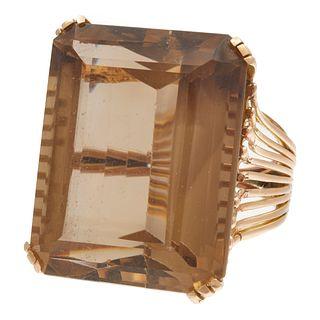 Citrine, 14k Rose Gold Ring