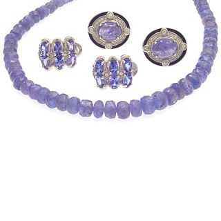 Collection of Tanzanite, Sterling Silver Jewelry Items
