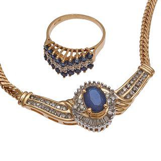 Collection of Diamond, Sapphire, 14k Jewelry