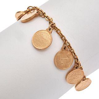 14K Yellow Gold 12 Months Love Token Bracelet