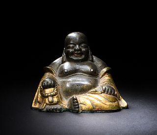 Chinese Gilt Bronze Budai, 18-19th Century