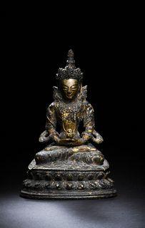 Chinese Gilt Bronze Buddha, 18th Century