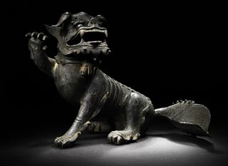 Chinese Bronze Beast Censer, Ming