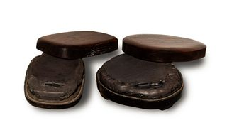Two Chinese Duan Inkstones with Boxes, 19th Century