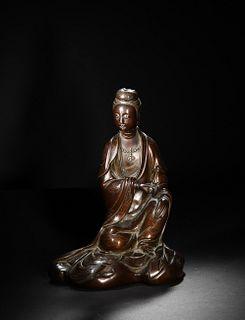 Chinese Bronze Statue of Guanyin, 18-19th Century