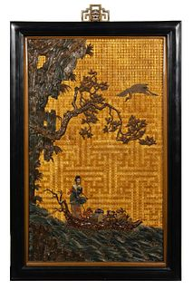 Chinese Lacquer Panel, 19th Century