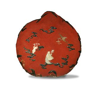 Chinese Peach-Shaped Cinnabar Box, 18th Century