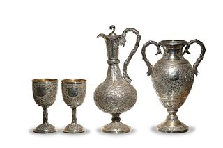 Set of 4 Chinese Export Silver, 19th Century