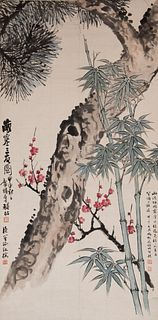 Chinese Painting of Suihan Sanyou by Feng Chaoran