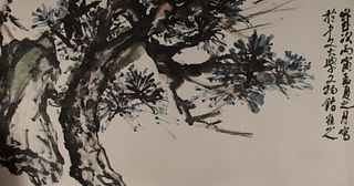 Chinese Painting of Pine Bough by Luo Shanren