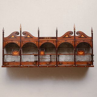Regency Inlaid Mahogany and Fruitwood Finch Box