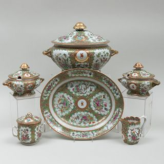 Chinese Export Rose Medallion Porcelain Part Service