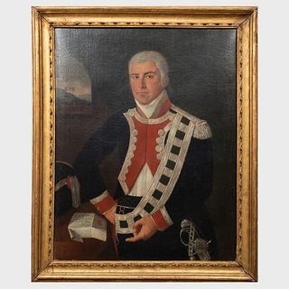 Continental School: Portrait of a Naval Officer