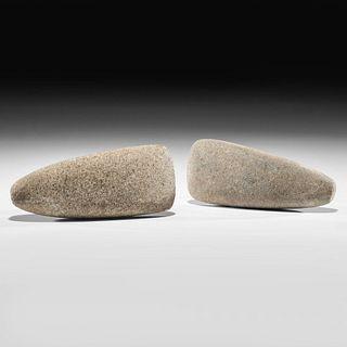A Pair of Granite Celts, Longest 7-1/4 in.