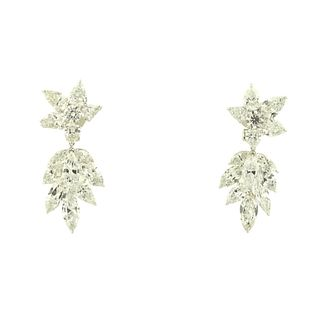Platinum Harry Winston Style 19.75ct Earrings