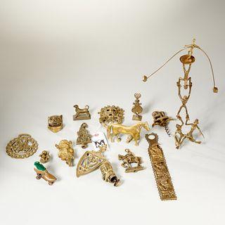 Collection antique metalware novelties