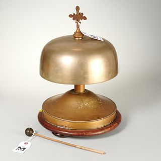 Antique French brass altar bell