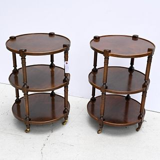 Pair Tradition House tiered side tables