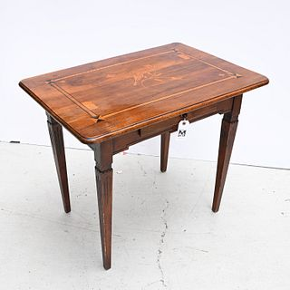 Continental Neoclassical marquetry games table