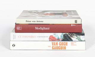 4 HARDCOVER BOOKS ON NOTABLE ARTISTS