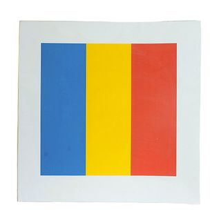 Large Ellsworth Kelly Lithograph in Colors, Signed